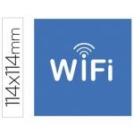 Etiqueta adhesiva Apli de señalizacion simbolo wifi 114x114 mm