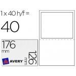 Etiqueta adhesiva Avery de envio 2 en 1 tamaño 176x126 mm paquete de 40 hojas