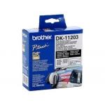 Etiqueta adhesiva Brother tamaño 17x87 mm para impresoras de etiquetas ql 300 etiquetas