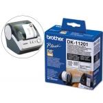 Etiqueta adhesiva Brother tamaño 29x90 mm para impresoras de etiquetas ql 400 etiquetas