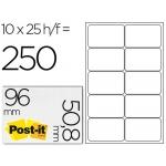 Etiqueta adhesiva Post-it super stick removible 96x50,8 mm multiuso 250 etiquetas caja de 25 hojas