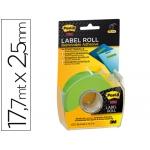 Etiqueta adhesiva Post-it super stick removibles en rollo x 17,7 mt color verde