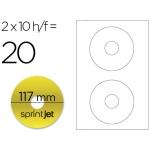 Etiqueta adhesiva Sprint jet din A4 para cd-dvd metalizado oro pack de 10 hojas