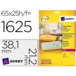 Etiqueta adhesivas Avery tamaño A4 imprimibles transparente 38,1x21,2 mm caja de 25 hojas con 1625 etiquetas