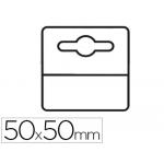Etiqueta colgador adhesiva 3l office en pvc 50x50 mm pack de unidades