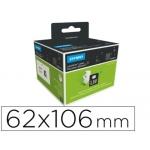 Etiqueta identificadora Dymo tamaño 62 x 106 mm para impresora labelwriter 250 etiquetas uso multifuncion