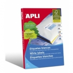 Apli 01277 - Etiquetas adhesivas, 105 x 42,4 mm, caja de 100 hojas