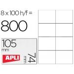 Etiquetas Adhesivas Apli 105 x 74 mm