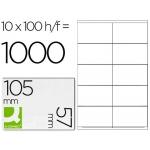 Etiquetas Adhesivas Q-Connect 105 x 57 mm