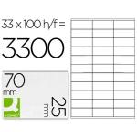 Etiquetas Adhesivas Q-Connect 70 x 25 mm