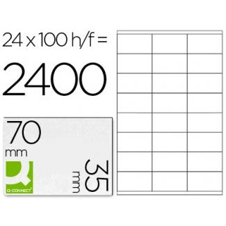 Q-Connect KF10645 - Etiquetas adhesivas, 70 x 35 mm, caja de 100 hojas