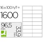 Q-Connect KF10651 - Etiquetas adhesivas, 96,5 x 33,9 mm, caja de 100 hojas