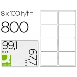 Etiquetas Adhesivas Q-Connect 99,1 x 67,7 mm