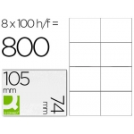 Etiquetas Adhesivas marca Q-Connect 105 x 74 mm