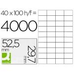 Q-Connect KF00574 - Etiquetas adhesivas, 52,5 x 29,7 mm, caja de 100 hojas