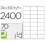 Etiquetas Adhesivas marca Q-Connect 70 x 37 mm