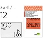 Etiquetas Liderpapel contiene albaran sobre de 4 H 100x48 mm