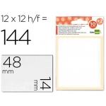 Etiquetas Liderpapel sobre de 10 H + 2 h obsequio 14x48 mm 10 unidades por hoja