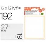 Etiquetas Liderpapel sobre de 10 H + 2 h obsequio 19x27 mm 16 unidades por hoja