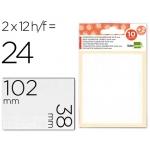 Etiquetas Liderpapel sobre de 10 H + 2 h obsequio 38x102 mm 2 unidades por hoja