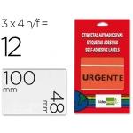 Etiquetas Liderpapel urgente sobre de 4 H 100x48 mm 100x48 mm