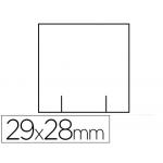 Etiquetas Meto color blanca 29x28 mm troquelada rollo de 700 etiquetas