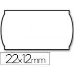 Etiquetas Meto onduladas 22 x 12 mm lisa removible bl rollo etiquetas