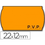 Etiquetas Meto onduladas 22 x 12 mm pvp fn adh 2 fluor color naranja rollo etiquetas