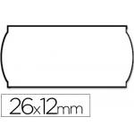 Etiquetas Meto onduladas 26 x 12 mm color blanca adh 2 rollo de etiquetas troqueladas (p+t) para etiquetadora tovel