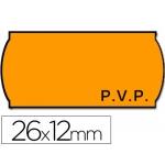 Etiquetas Meto onduladas 26 x 12 mm pvp fn adh 2 fluor color naranja troqueladas rollo etiquetas