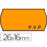 Etiquetas Meto onduladas 26 x 16 mm pvp fn adh 2 fluor color naranja troqueladas rollo etiquetas
