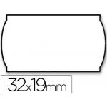 Etiquetas Meto onduladas 32 x 19 mm lisa removible bl rollo etiquetas