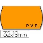 Etiquetas Meto onduladas 32 x 19 mm pvp fn adh 2 fluor color naranja rollo etiquetas