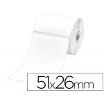Etiquetas adhesiva Brother para tamaño 51x26 mm etiquetas