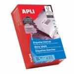 Apli 01794 - Etiquetas adhesivas, 105 x 35 mm, caja de 500 hojas