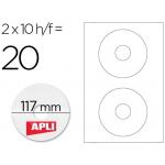 Etiquetas adhesivas para CD/DVD Apli