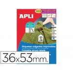 Etiquetas colgantes imprimibles 36x53 mm caja de 400