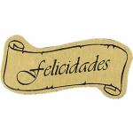 Etiquetas felicidades letrero rollo de 450 etiquetas