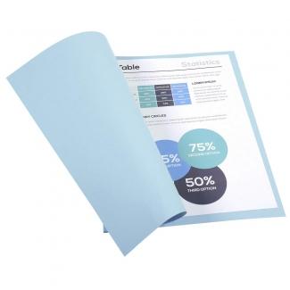 Exacompta Forever 410006E - Subcarpeta de cartulina reciclada, A4, 250 gr/m2, color azul claro
