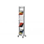 Expositor Fast-PaperFlow de suelo movil tamaño A4 aluminio4 estantes mm