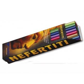 Expositor papel kraft nefertitis 24 rollos de colores surtidos 1x3 mt