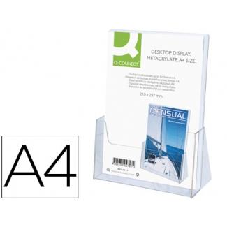 Q-Connect KF04185 - Expositor de sobremesa, metacrilato, tamaño A4