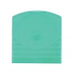 Fichero c.d plástico Offisys para 2 c.d color verde manzana pack de 5 unidades