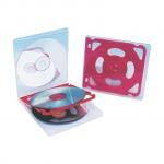 Fichero c.d plástico extraduro para 4 cd