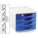 Cep Origins - Fichero de sobremesa, 4 cajones, color azul