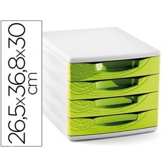 Cep Origins - Fichero de sobremesa, 4 cajones, color verde