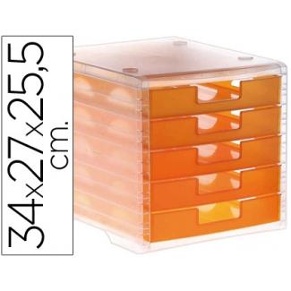 Opina sobre Q-Connect KF18422 - Fichero de sobremesa, 5 cajones, naranja mandarina translúcido