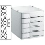 Offisys 1070-MK - Fichero de sobremesa, 5 cajones, color gris