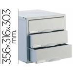 Archivo 2000 Archisystem 8403C - Fichero de sobremesa, 3 cajones, color gris
