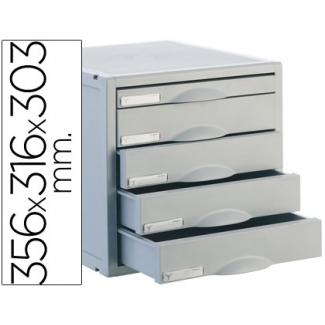 Archivo 2000 Archisystem 8405C - Fichero de sobremesa, 5 cajones, color gris
